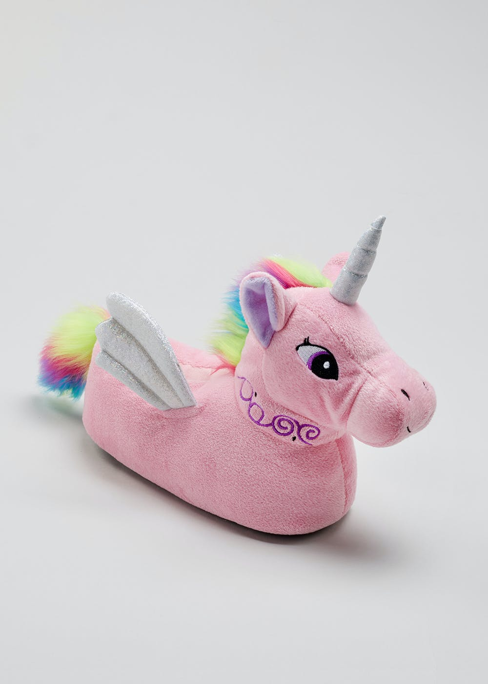 Kids 3D Unicorn Slippers (Younger 10-Older 5) – Pink – Matalan c5e43a806