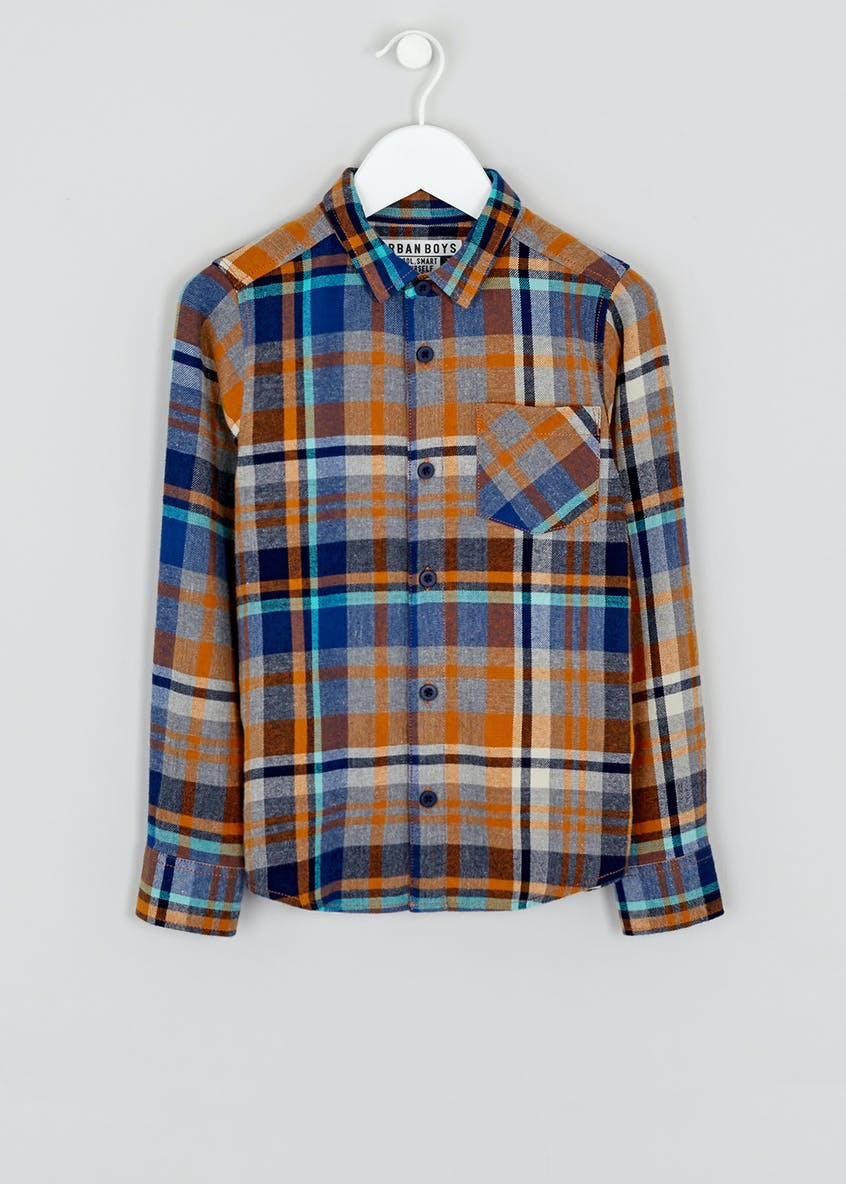 Boys Long Sleeve Brushed Check Shirt (4-13yrs)