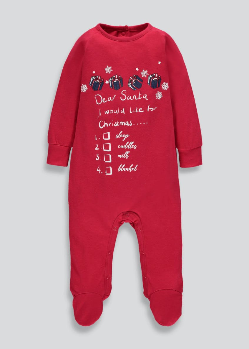Unisex Family Dear Santa Christmas Sleepsuit (Newborn-23mths)