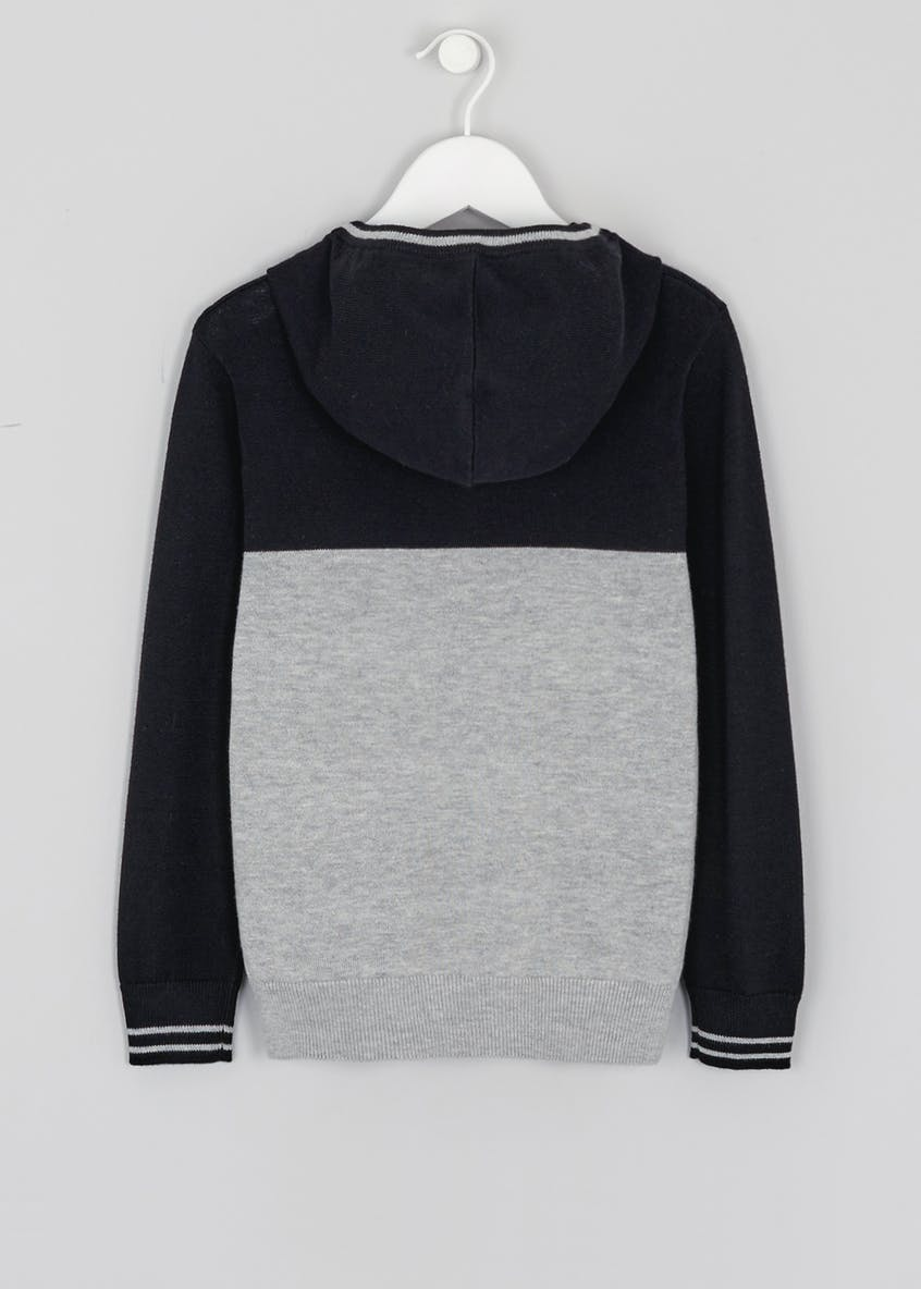 Kids Colourblock Knitted Hoodie (4-13yrs)
