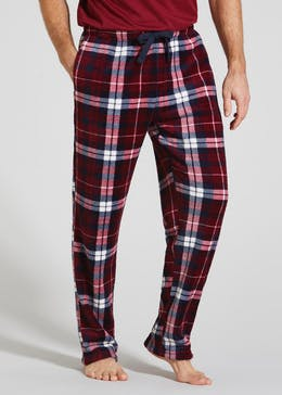Fleece Check Lounge Bottoms