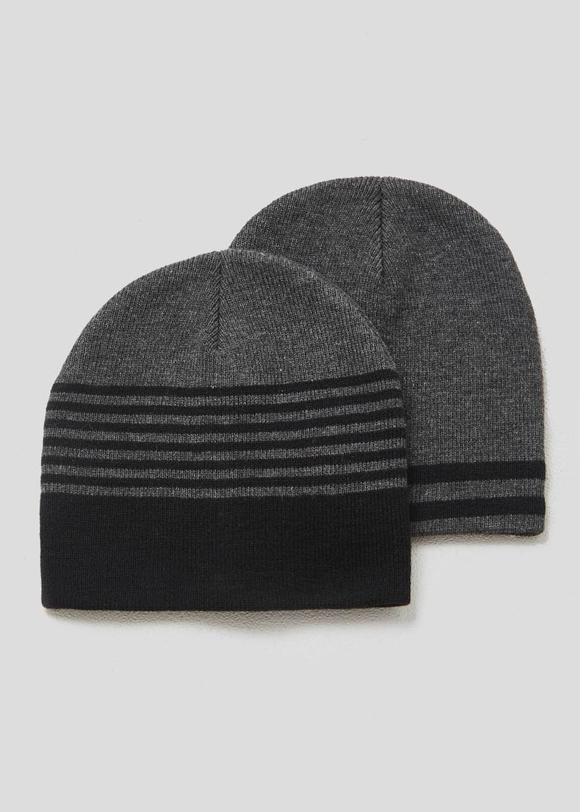 2 Pack Basic Beanie Hats