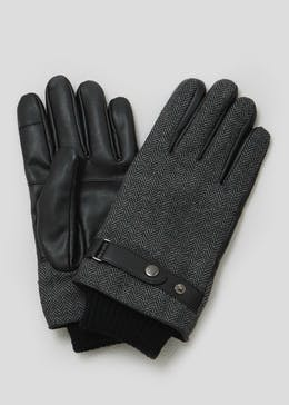 Herringbone PU Gloves