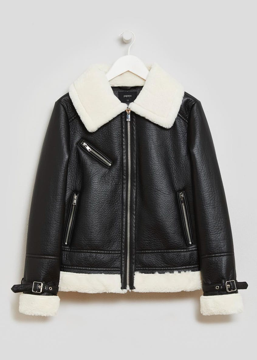PU Aviator Jacket