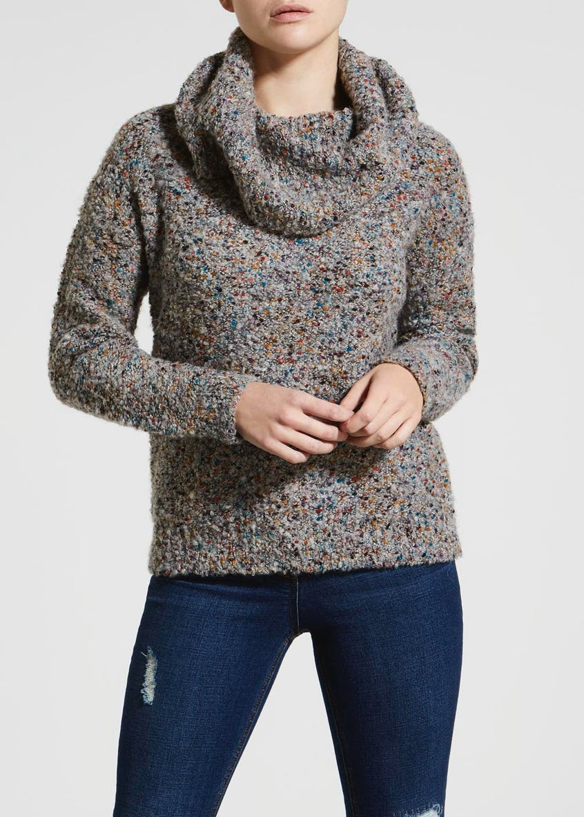 Papaya Petite Roll Neck Jumper