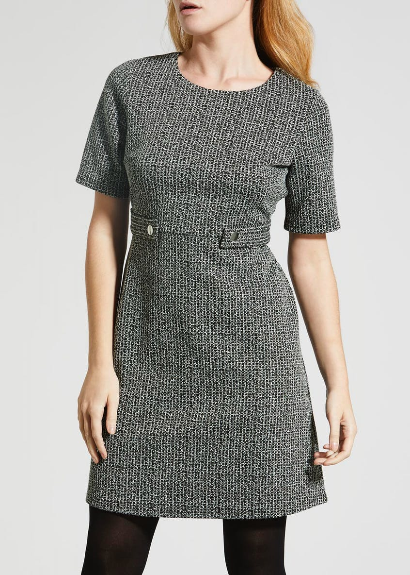 Papaya Petite Textured Ponte Dress