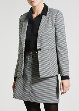 Papaya Petite Dogtooth Check Suit Jacket