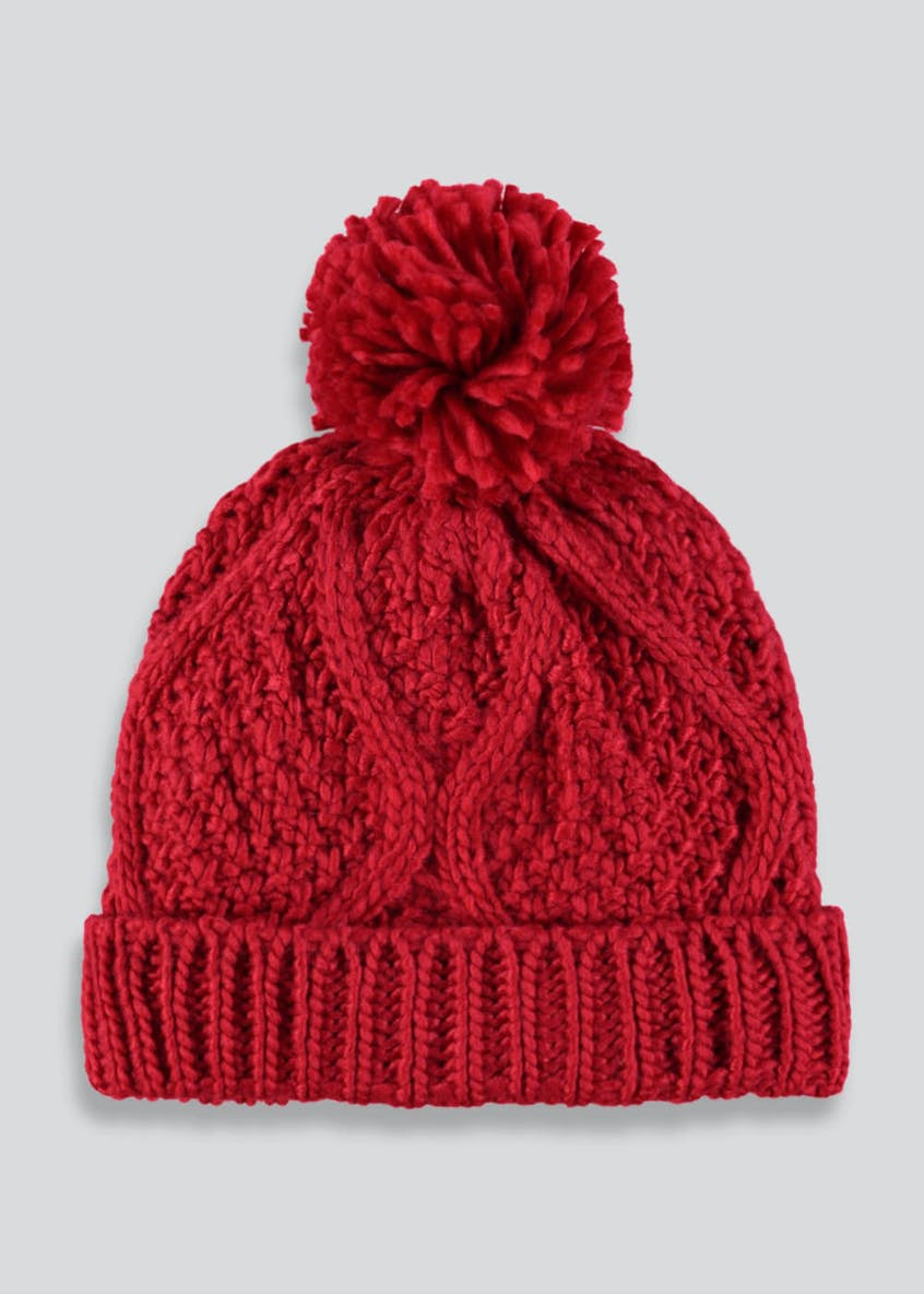 Girls Cable Bobble Hat (3-13yrs)