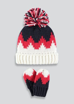 Kids Cable Hat & Mittens Set (6mths-4yrs)