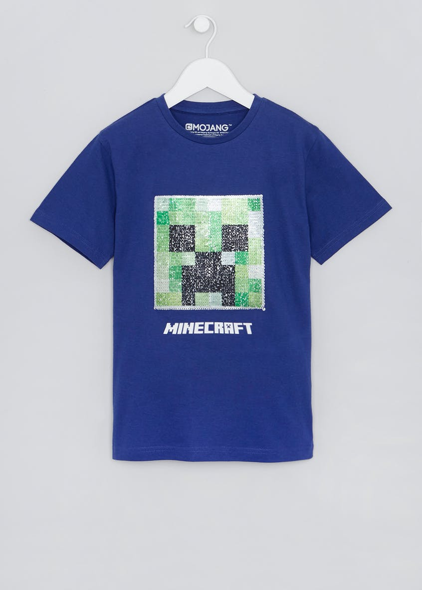 Kids Minecraft Two Way Sequin T-Shirt (6-10yrs)