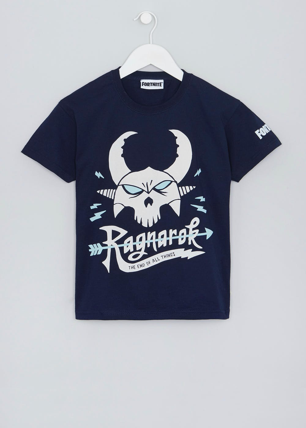 708bbcf72 Kids Fortnite Ragnarok T-Shirt – Navy – Matalan