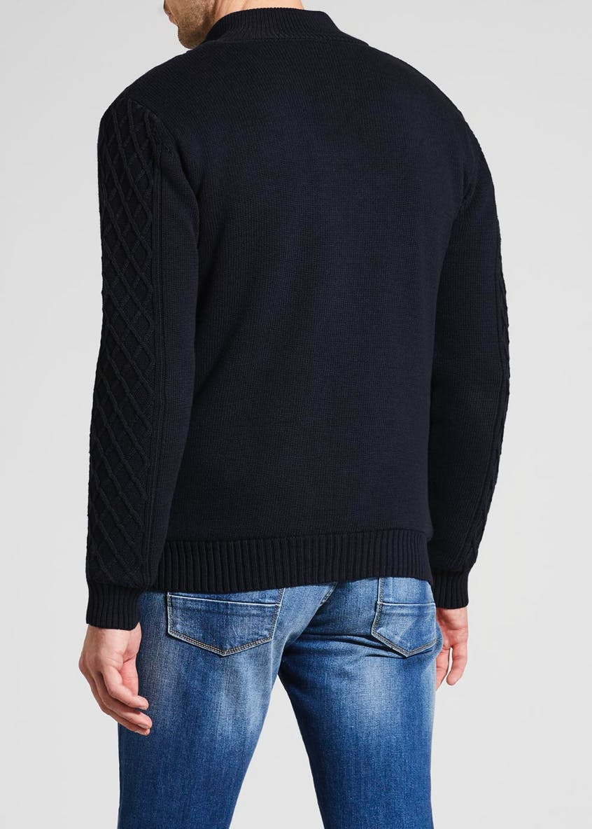 Lincoln Borg Lined Zip Cardigan