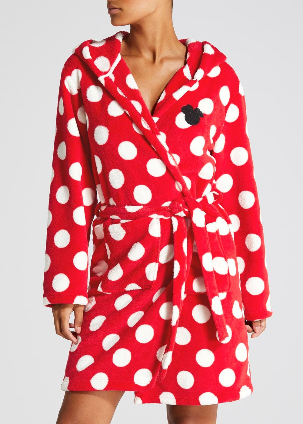 Disney Minnie Mouse Dressing Gown – Red – Matalan