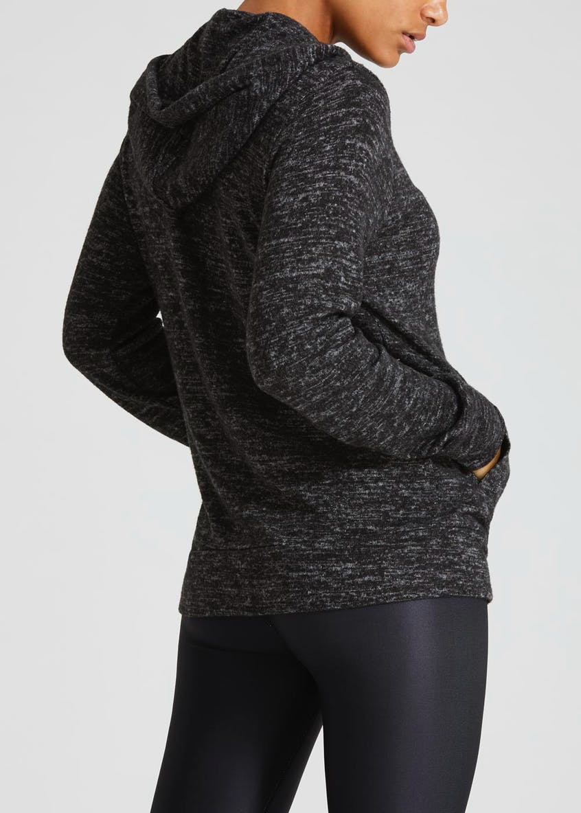 Soft Touch Zip Through Hoodie