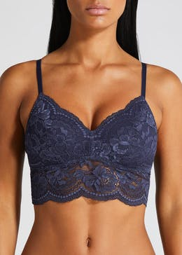 Lace Non-Wired Padded Longline Bralette