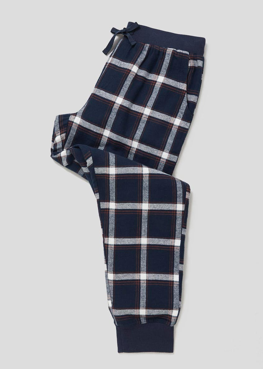 Fleece Lined Check Pyjama Bottoms