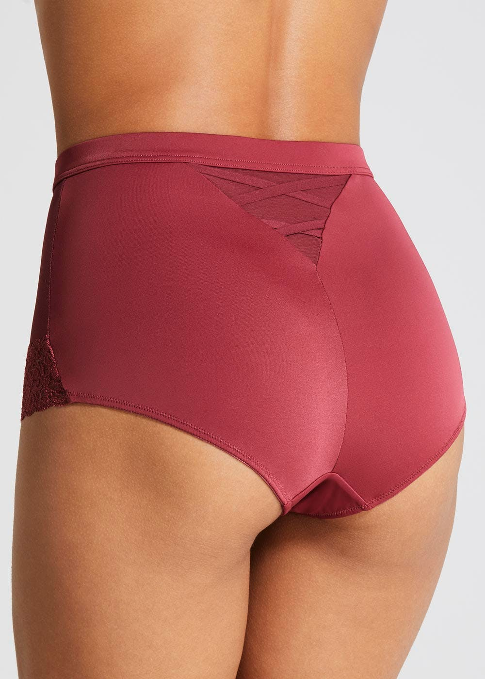 149305bd5f9 2 Pack Lace Trim Control Knickers – Burgundy – Matalan