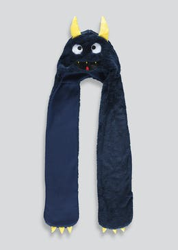 Kids Monster Hooded Scarf (One Size)