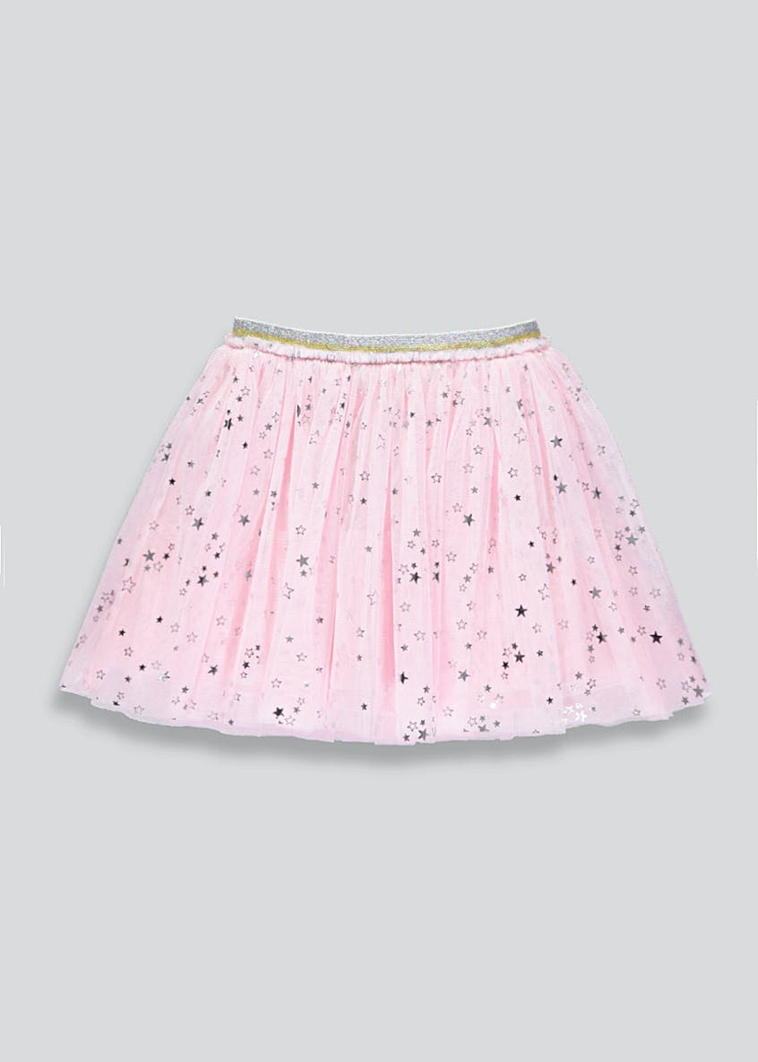 Girls Foil Star Tutu Skirt (9mths-6yrs)