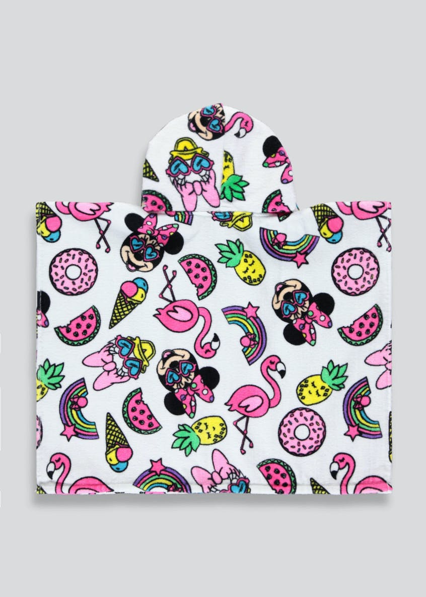 Kids Hooded Minnie Mouse Hooded Towel Poncho (One Size)