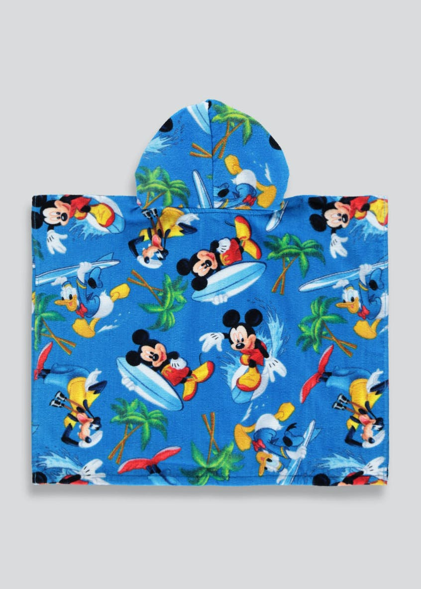 Kids Disney Mickey Mouse Hooded Towel Poncho (One Size)