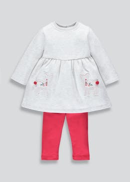 Girls Deer Dress & Leggings Set (3mths-6yrs)