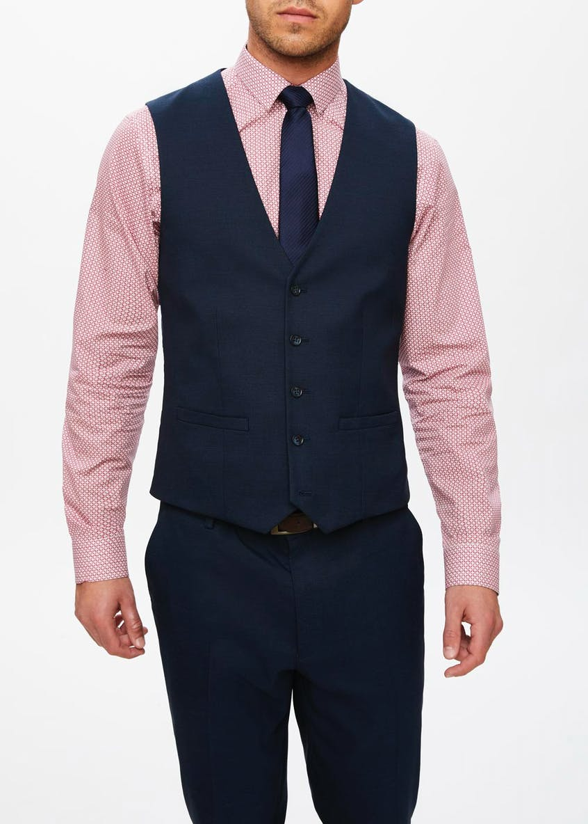 Taylor & Wright Jones Slim Fit Stretch Suit Waistcoat