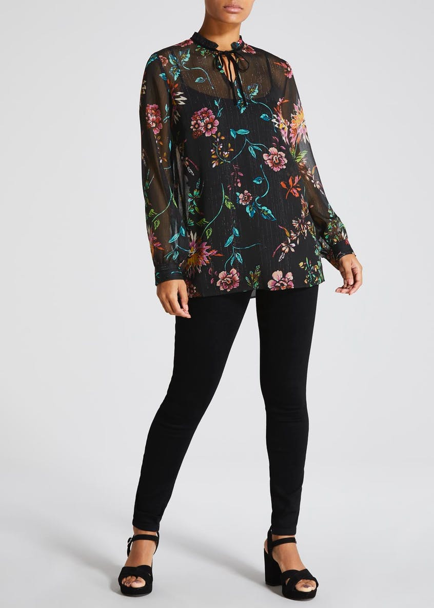 Soon Floral High Neck Blouse