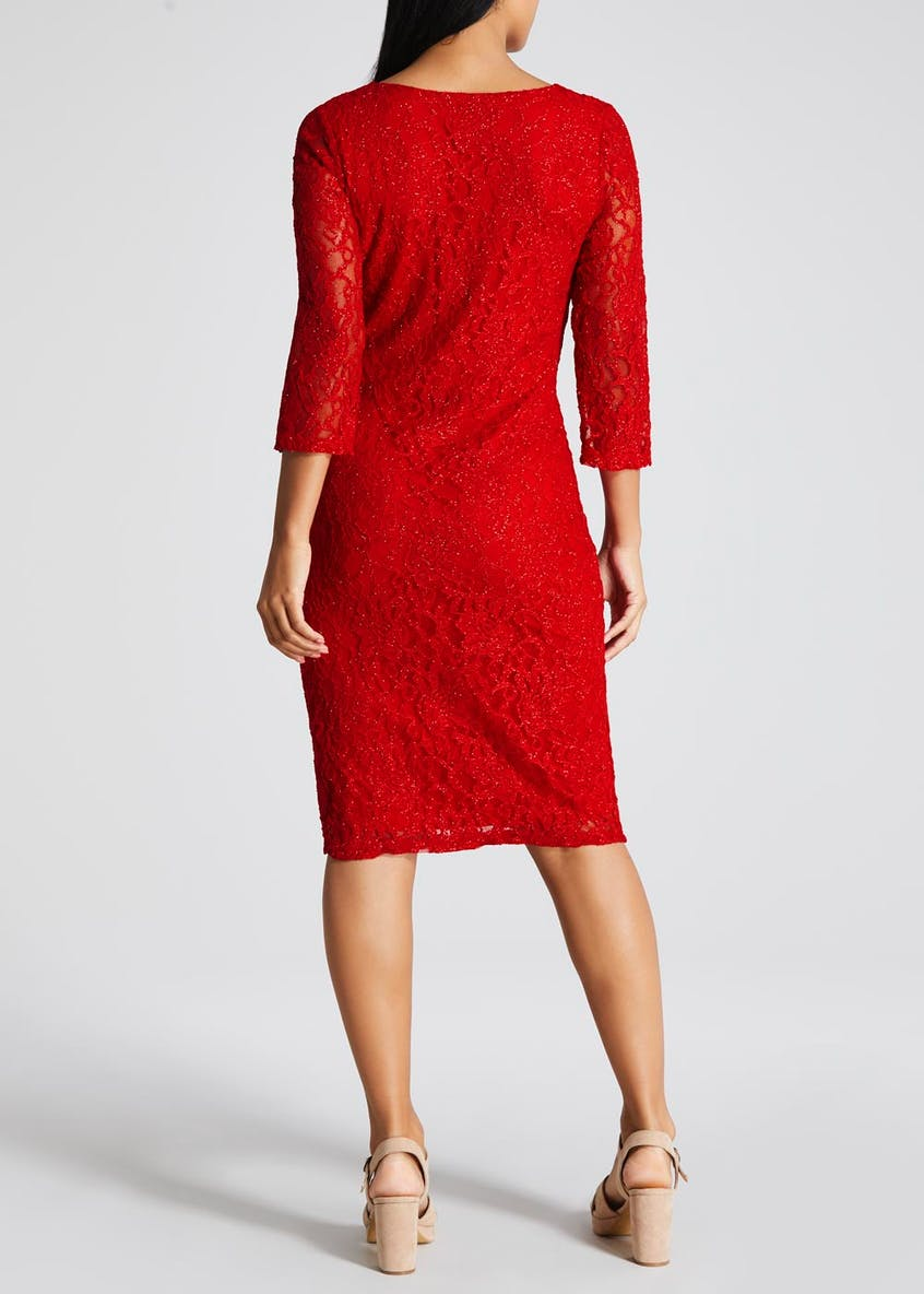 Soon Sparkle Lace Occasion Dress