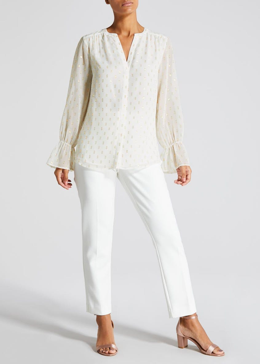 FWM Sparkle Bell Sleeve Blouse