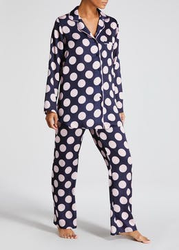 Polka Dot Satin Pyjama Set
