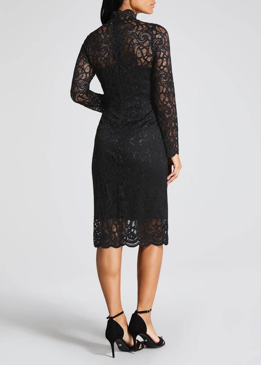 FWM Lace High Neck Midi Dress