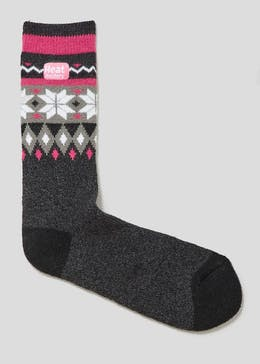 Fair Isle Heat Holders Thermal Socks