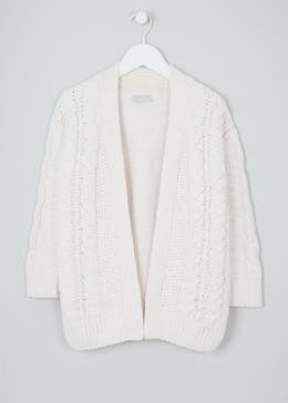 Girls Cable Knit Cardigan (4-13yrs)