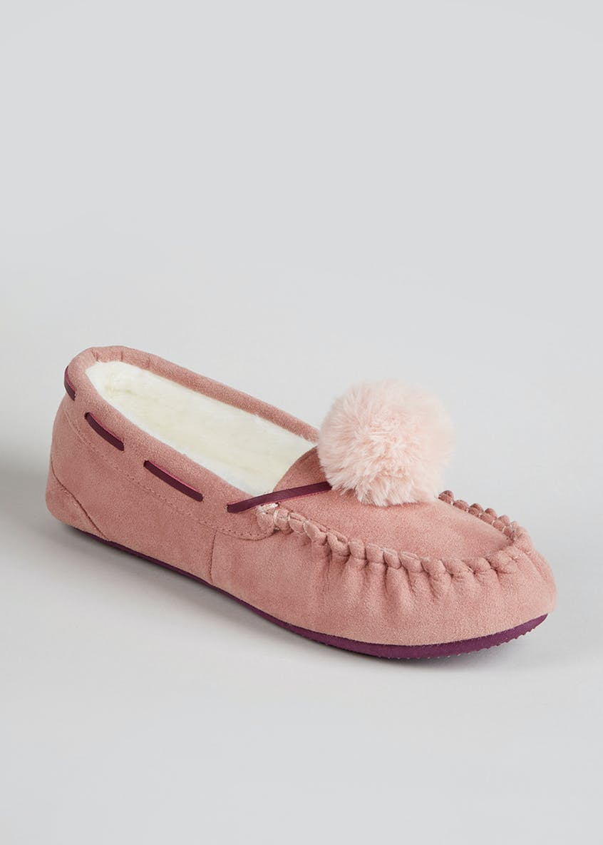 Pom Pom Moccasin Slipper Gift Box