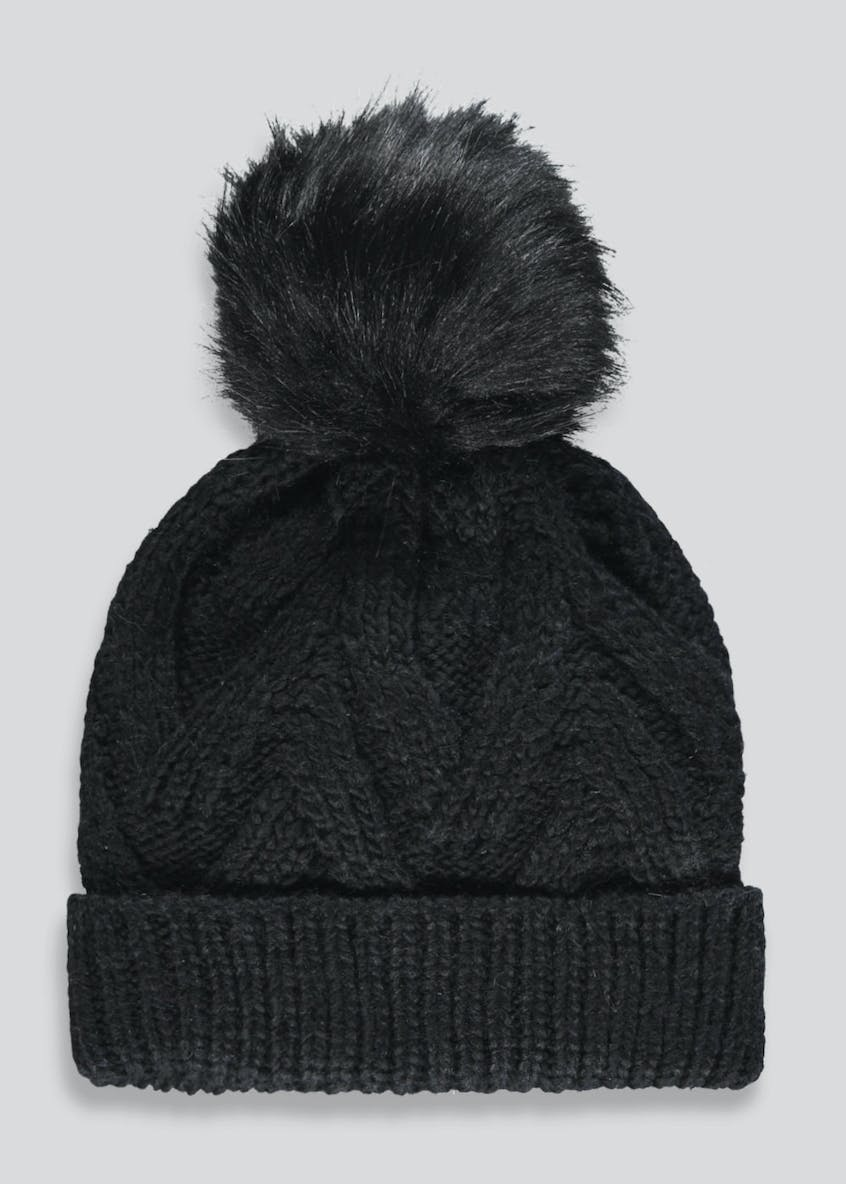 Oversized Pom Pom Bobble Hat