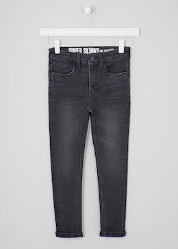 Boys Stretch Turn up Jeans (4-13yrs)