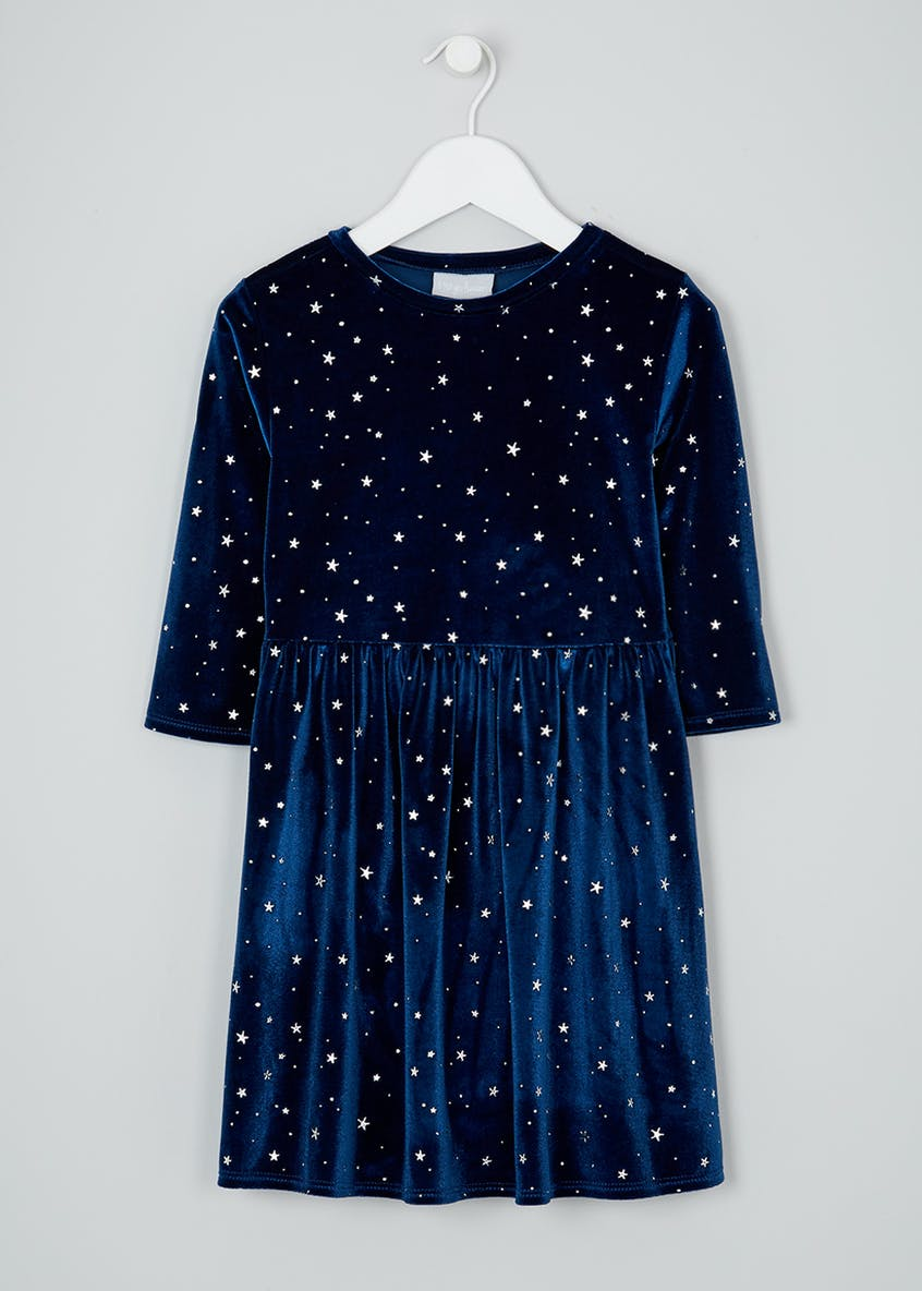 Girls Velvet Star Dress (4-13yrs)