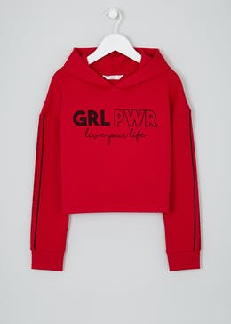 Girls Candy Couture Girl Power Cropped Hoodie (9-16yrs)