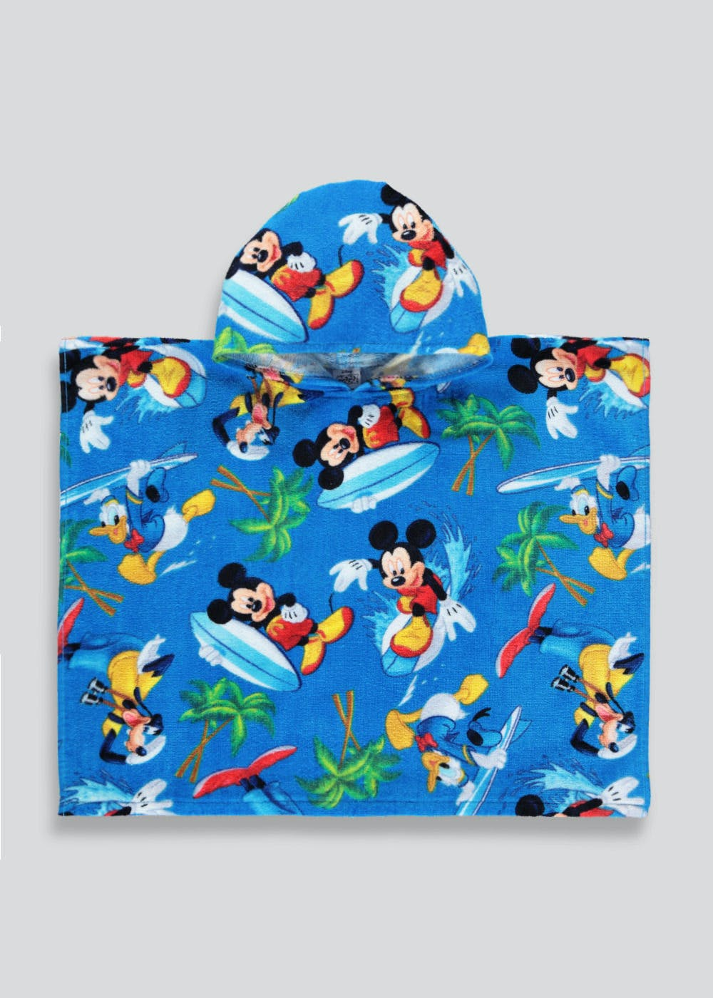 31523cfcc Kids Disney Mickey Mouse Hooded Towel Poncho (One Size) – Blue – Matalan