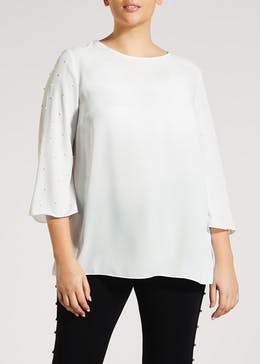 Papaya Curve Pearl Blouse