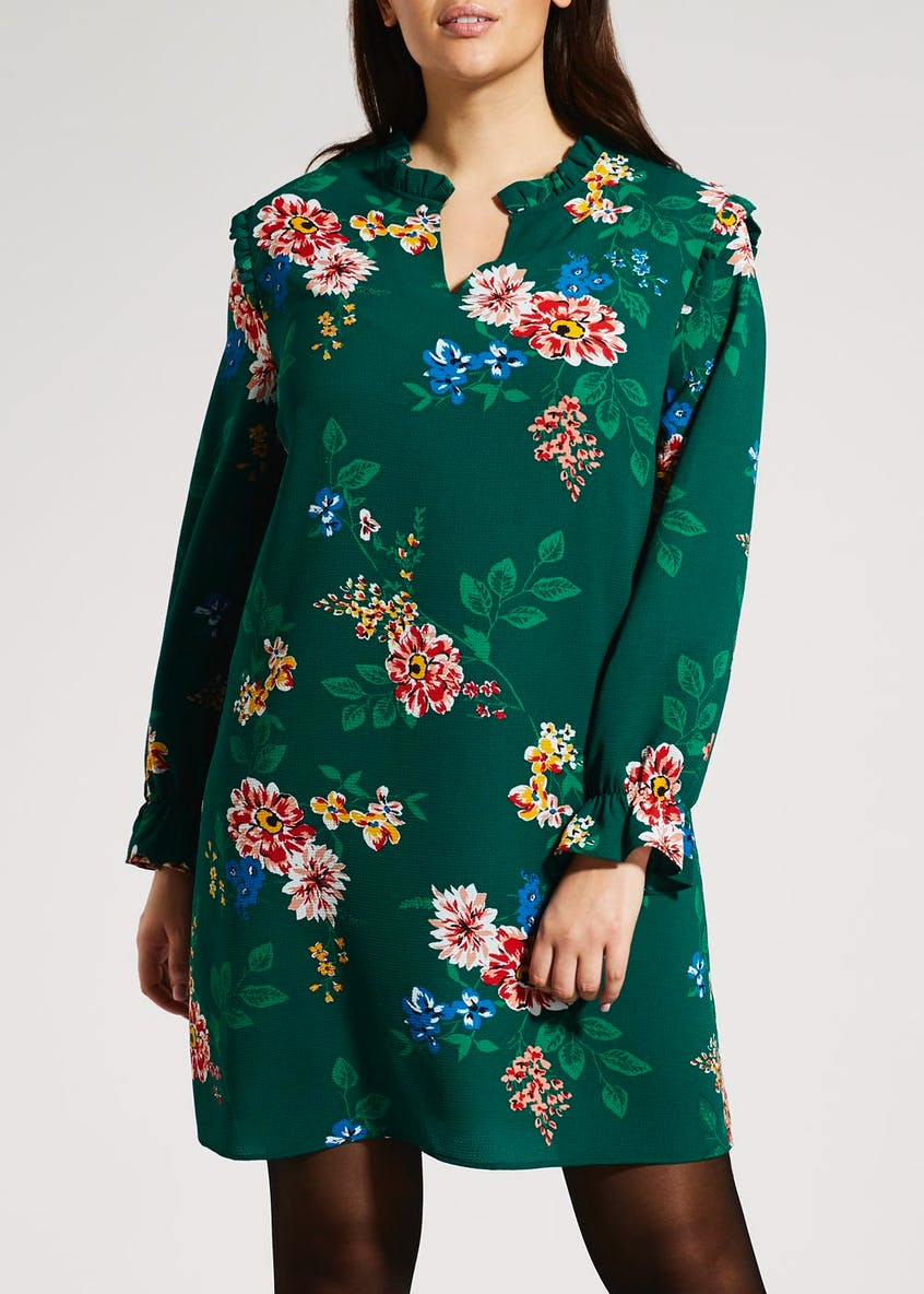 Papaya Curve Floral Dress