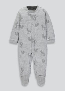 Unisex Woodland Sleepsuit (Tiny Baby-9mths)