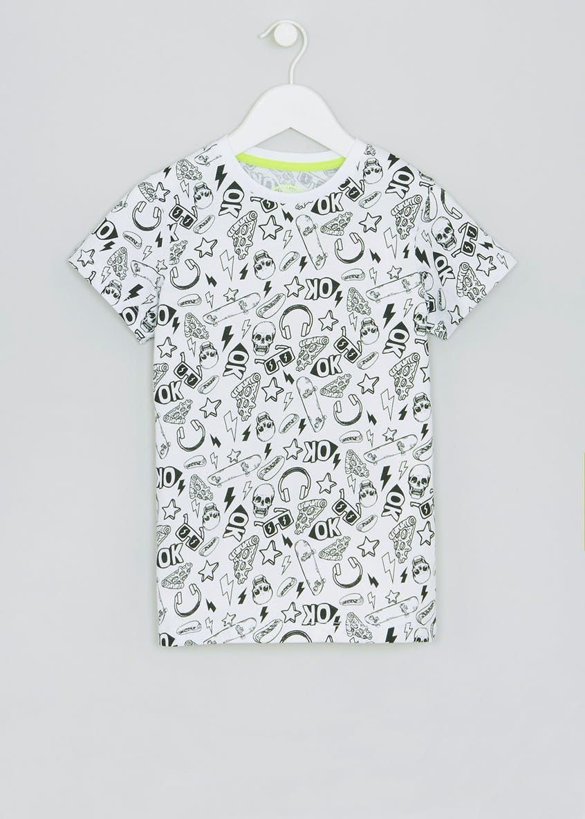 Kids Skull Print T-Shirt (4-13yrs)