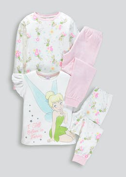 Girls 2 Pack Disney Tinkerbell Pyjamas (2-9yrs)