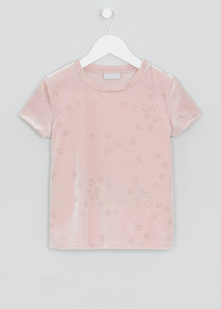 Girls Star Velvet T-Shirt (4-13yrs)