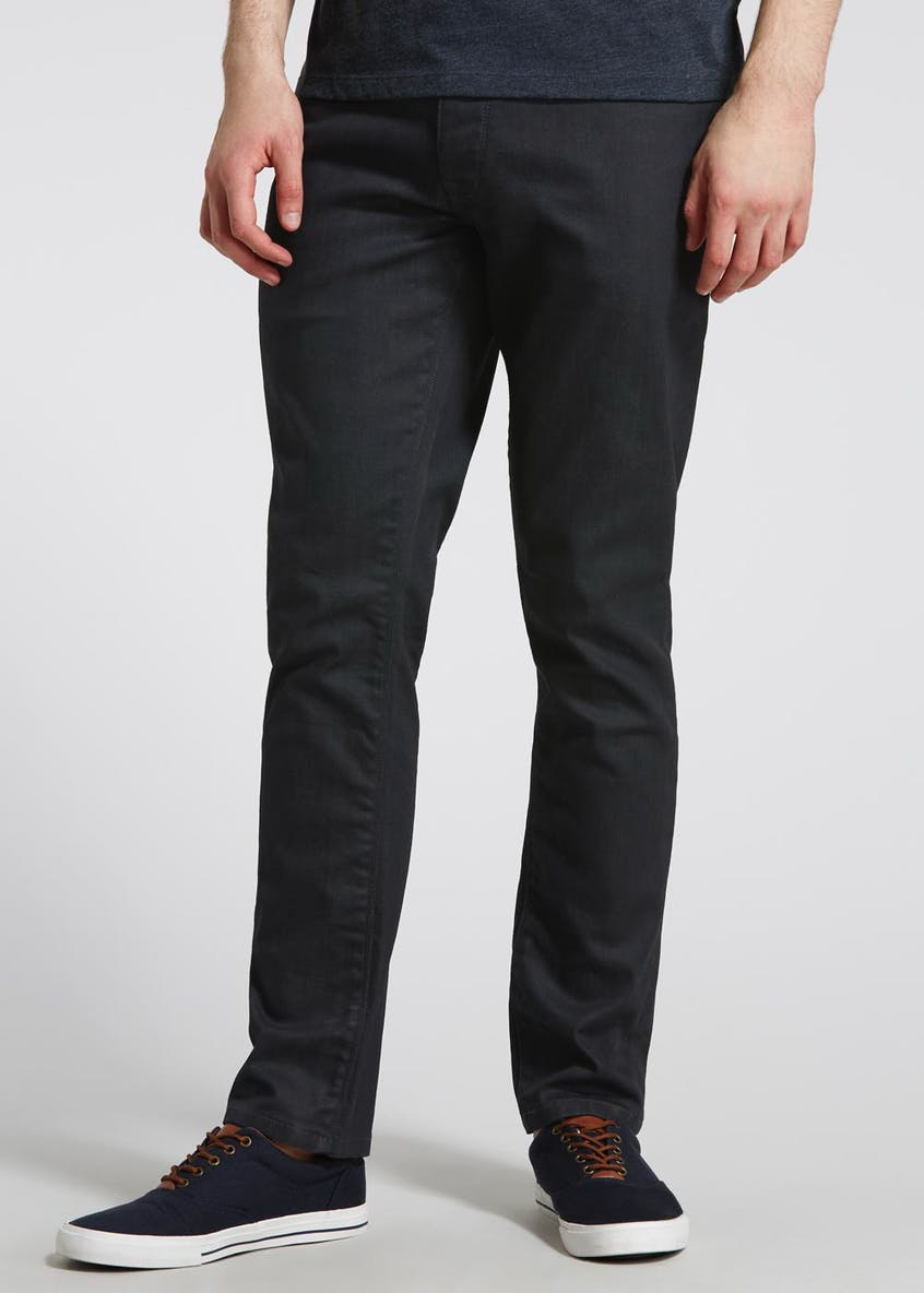 Coated Stretch Slim Fit Jeans