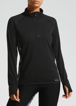 Souluxe Half Zip Printed Sports Sweatshirt