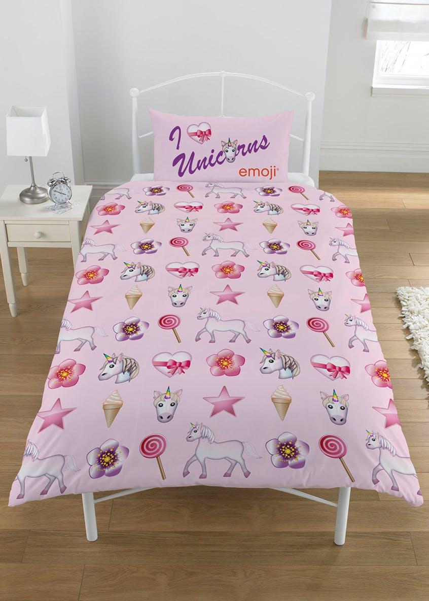 Unicorn & Mermaid Emoji Reversible Duvet Cover