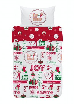 Kids Elf on the Shelf Christmas Bedding Set